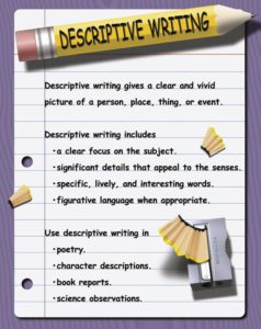 descriptive writing for children