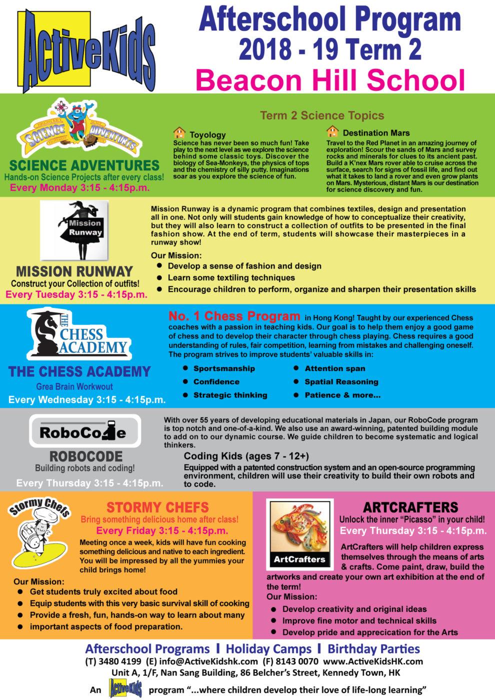 Beacon Hill School – ESF Newsletter #18 - Beacon Hill School - ESF
